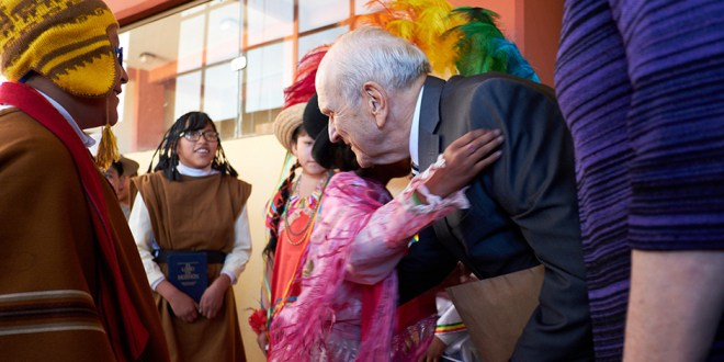 President Russell M. Nelson Stops in Bolivia on Global Tour