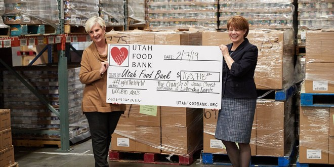 Watch the Church Deliver $2.3 Million in Checks from #LightTheWorld