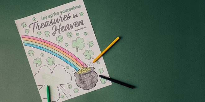 FREE St. Patrick's Day Coloring Page for Latter-day Saints