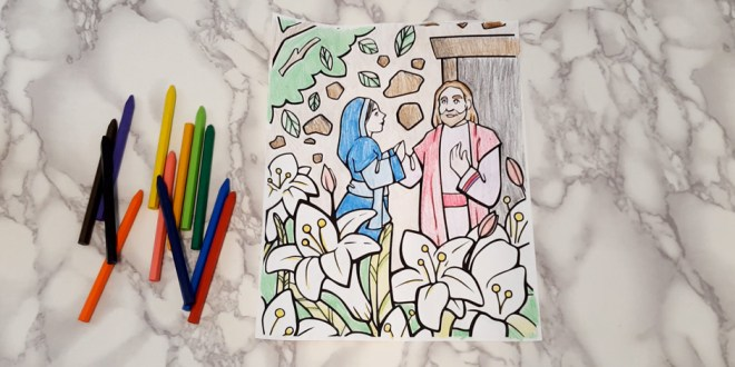 FREE Printable The Garden Tomb Easter Coloring Page