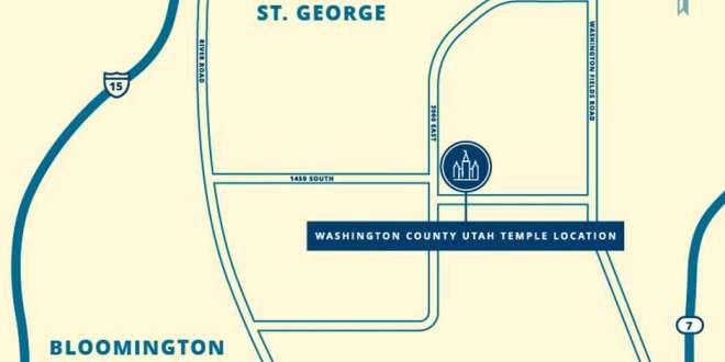 Washington County Utah Temple Site Announced
