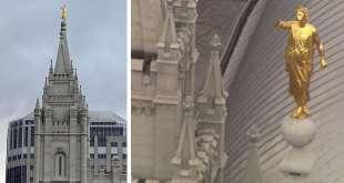 Angel Moroni Damaged on Salt Lake Temple After Earthquake