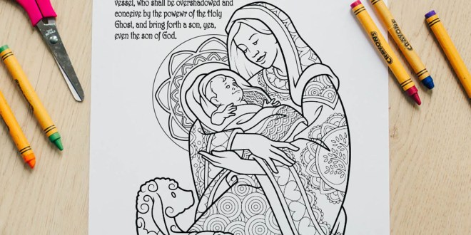 Here's Your Free Come, Follow Me Coloring Page - June 1-7, 2020