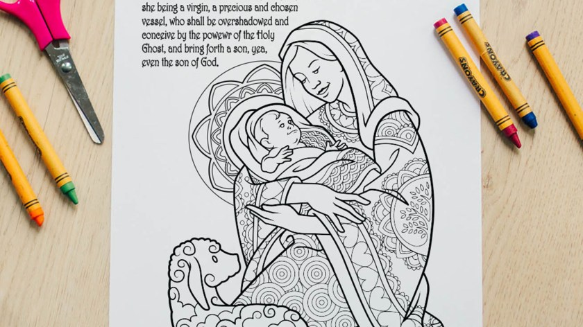 here's your free come follow me coloring page  june