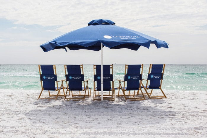Destin Beach Chair Rental Large set