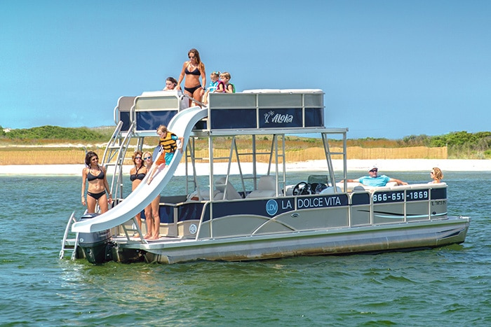 Double Decker Pontoon Destin Slide