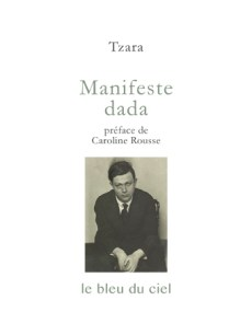 couverture du livre de Tzara | Manifeste dada | 1918