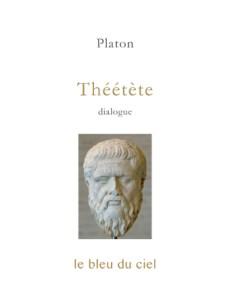 couverture du livre de Platon | Théétète
