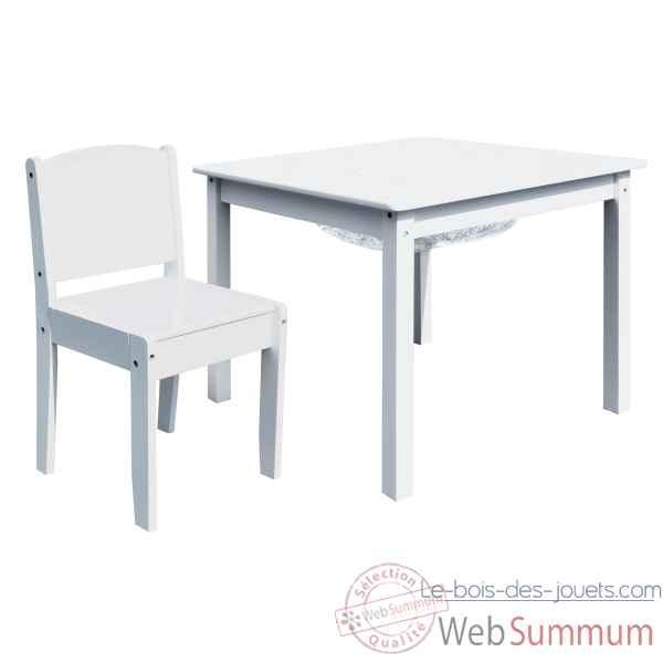 ensemble table de jeu enfant avec rangement et deux chaises enfant blanche room studio 530197