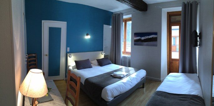 Chambre N° 5 Hotel Le Chalet Ax les Thermes