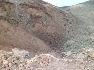 Le cratère principal du Ténéguia