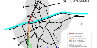 La rocade ouest de Perpignan