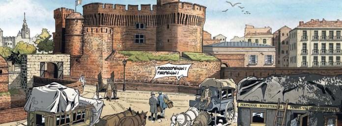 BD se déroulant à Perpignan ; pour ce tome 3 de la série « Ontophage », l'auteur et dessinateur Mark Piskic a choisi de rendre hommage à sa ville d'origine, en mettant en scène ses personnages dans ce décor qu'il connaît sur le bout des doigts.