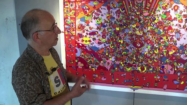 """Exposition de MICHEL PAGNOUX """"En Liberté"""" Peintures et sculptures au Mas Génégals à Vingrau (Eté 2013)"""