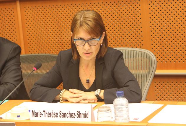PERPIGNAN... Marie-Thérèse Sanchez Schmid, conseillère municipale, députée européenne, sera 3ème - et donc en position éligible - sur la liste que conduira l'ex ministre Michèle Alliot Marie, pour l'UMP et dans le Grand Sud Ouest, à l'occasion des élections européennes qui auront lieu le dimanche 25 mai prochain.