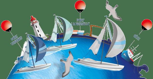 1ère édition de la régate du « Triangle du Lion » par la société nautique de la Côte Vermeille en partenariat avec le club nautique de Port-La-Nouvelle et la société nautique de Sète