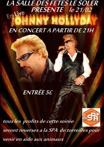 Le Soler :  Concert «  Johnny Hallyday »  au profit de la SPA
