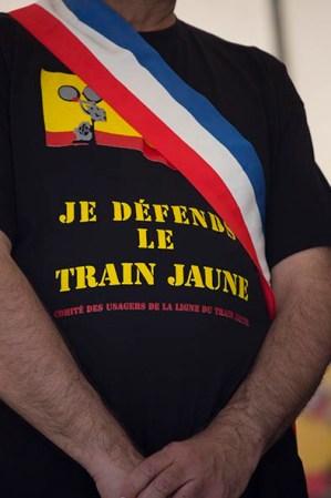 FRANCE/LA CABANASSE/CHRONIQUE d'EN HAUT/2015JUN06/Fete du Train Jaune organisee par le comite des usagers de la ligne en gare de Mont Louis La Cabanasse. © Georges BARTOLI / Divergence