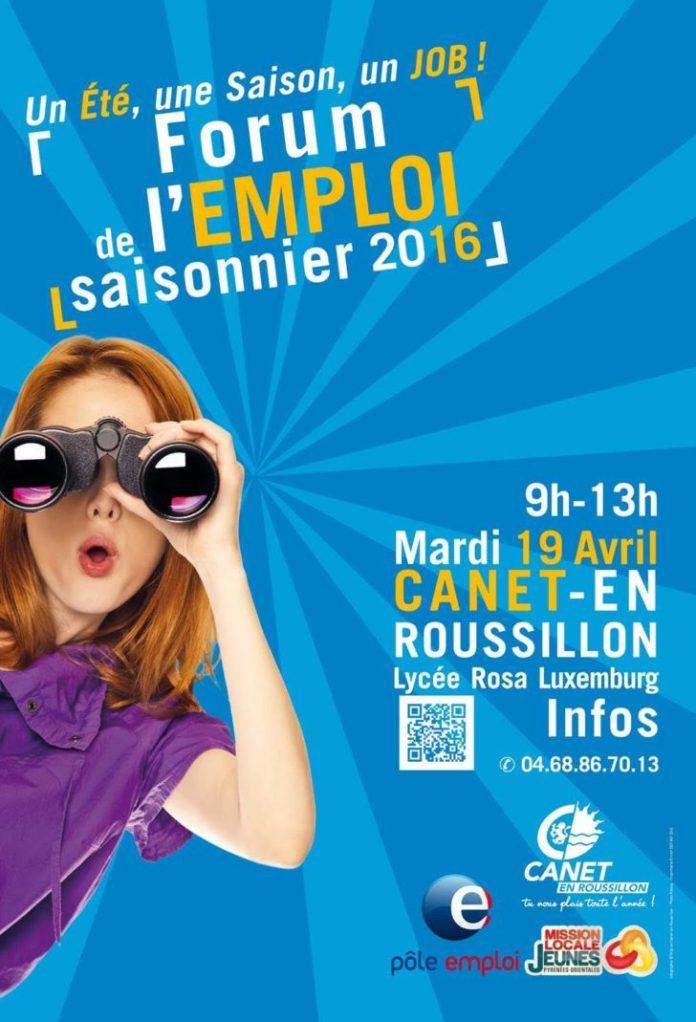 affiche-forum-pour-emploi-saisonnier-canet-roussillon