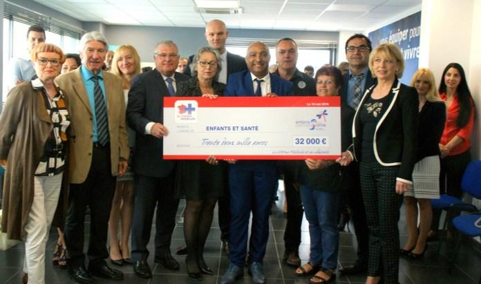 Pyrénées-Orientales La Vitrine Médicale remet un chèque de 32 000€ à l'association « Enfants et Santé PLR »