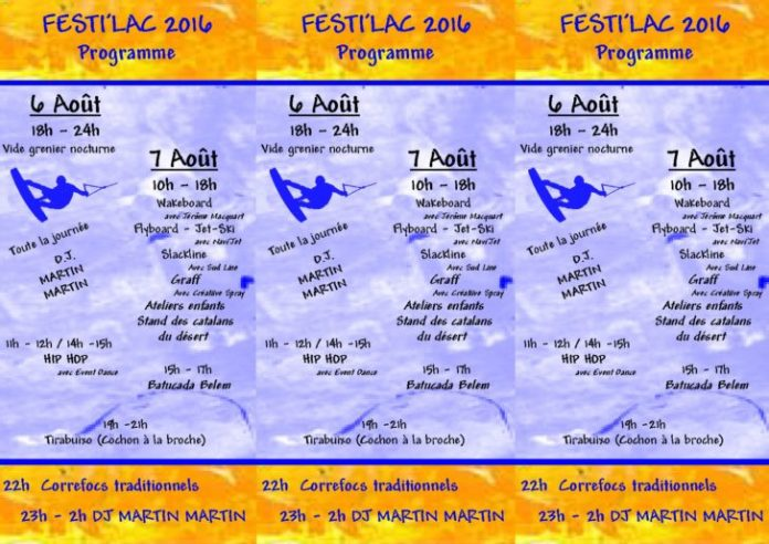 Programme Festilac 2016 Vinça