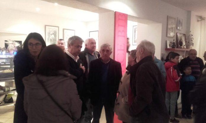 Francis Bonet, le président et Franck Galangau le directeur, en discussion avec les invités