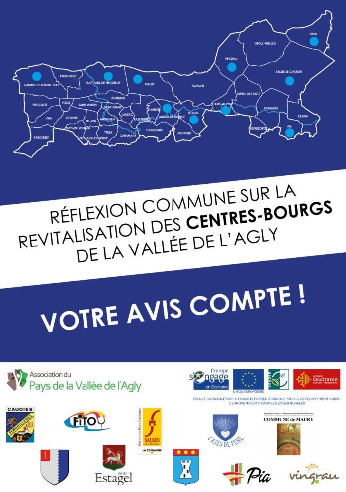 Réflexion commune sur la revitalisation de 10 centres-bourgs de la vallée de l'Agly