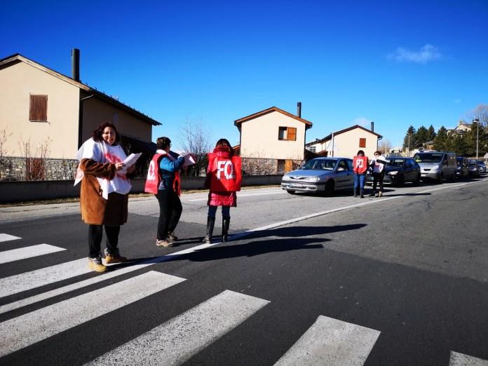 greve-des-personnels-et-des-familles-de-residents-de-la-mas-du-nid-cerdan-a-saillagouse
