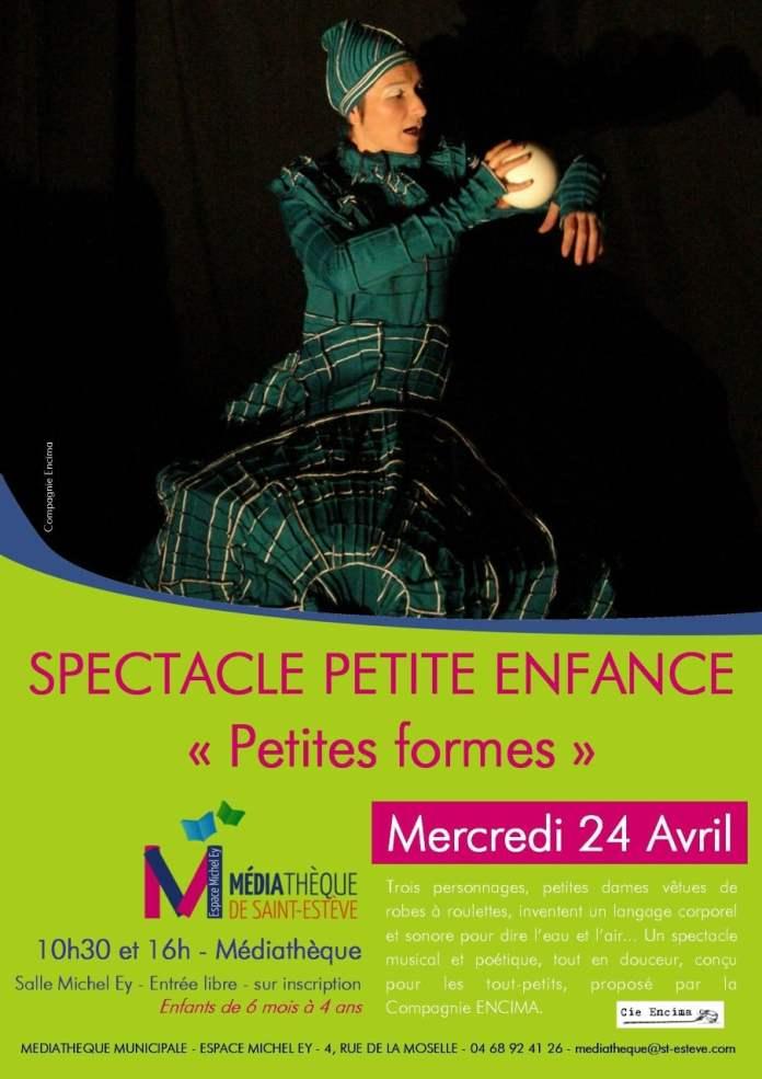 Spectacle petite enfance à la médiathèque de Saint-Estève ce 24 avril