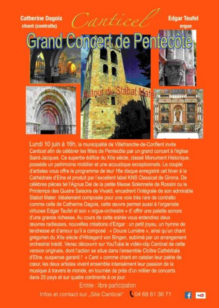 Grand Concert de Pentecôte « Autour du Stabat Mater » avec Canticel