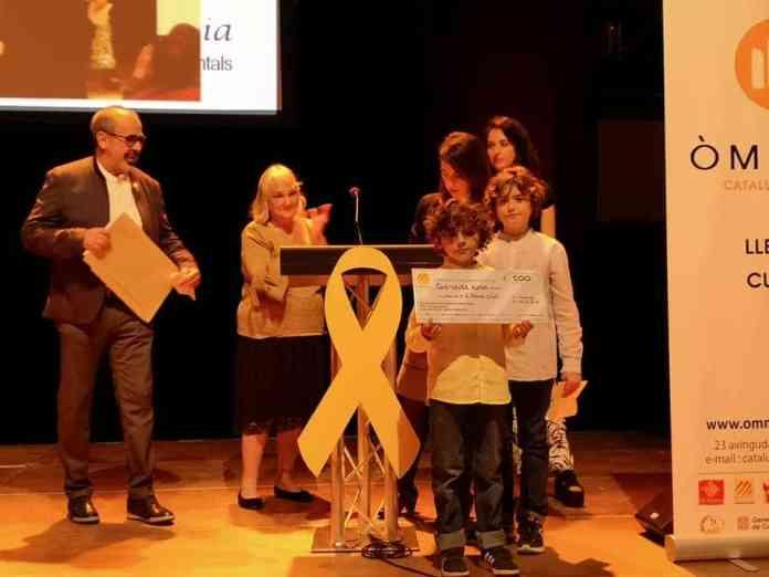 Les élèves de la Bressola et les prix de la Nit de Sant Jordi