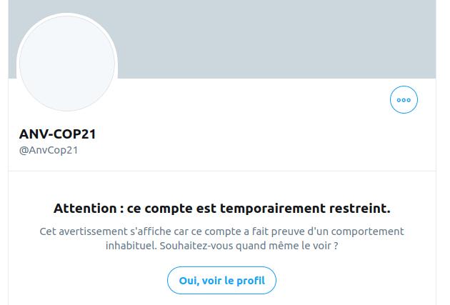 Twitter suspend en nombre les comptes du mouvement climat