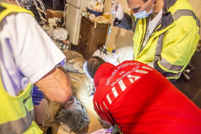 Evacuation d'Alain : opération périlleuse et colossale dans le quartier Saint-Jacques de Perpignan