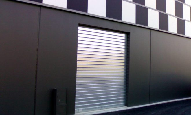 rideau metallique de porte d entree