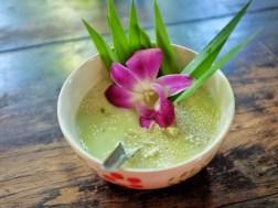 Dessert de banane au lait de coco cours de cuisine thaïlande