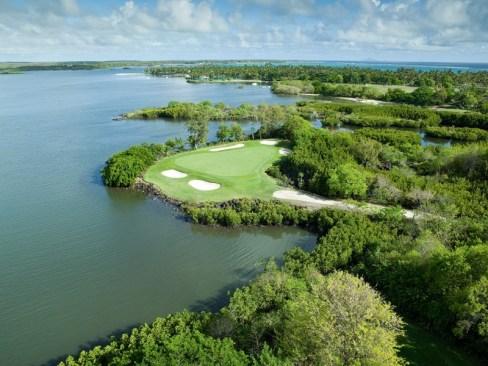 Le parcours de golf Links à Maurice