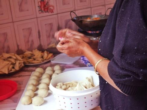 Preparation des fameux rotis