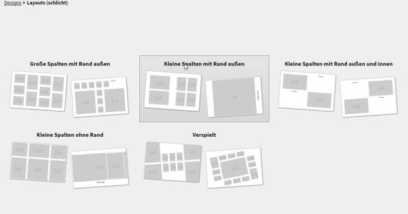 Fotobuch Layout Design