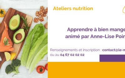 Les prochains ateliers du MIS (nutrition)