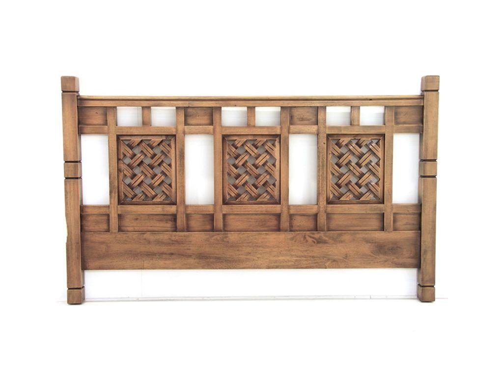 tete de lit colonial hevea massif de qualite fabrication artisanale