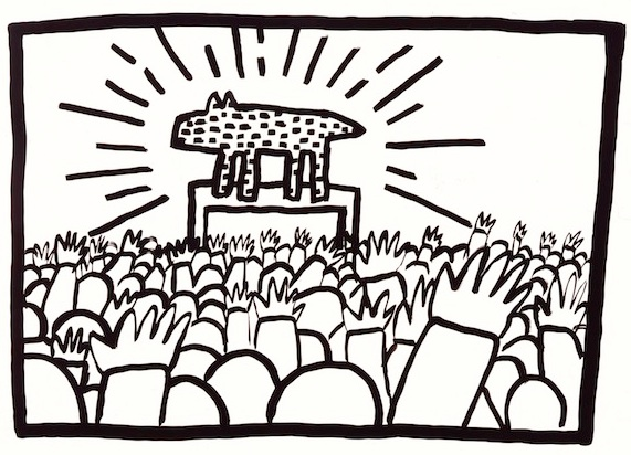 Keith Haring, barking dog 1