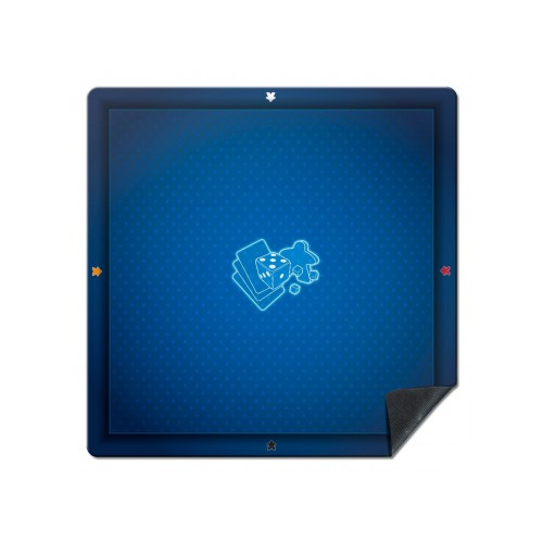 tapis 60x60cm meeple bleu