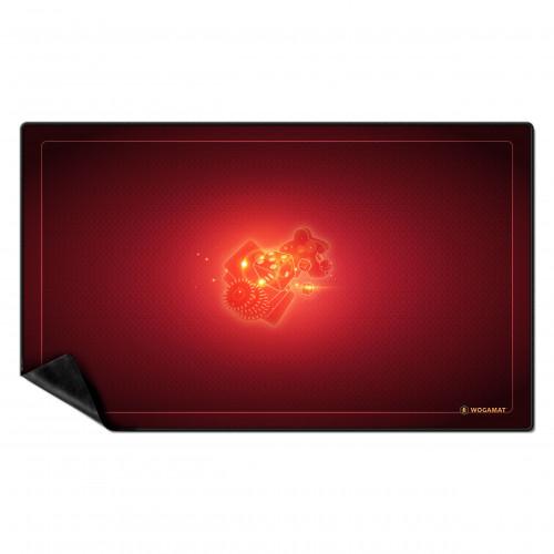 tapis 60x100cm multijeux rouge au passe temps
