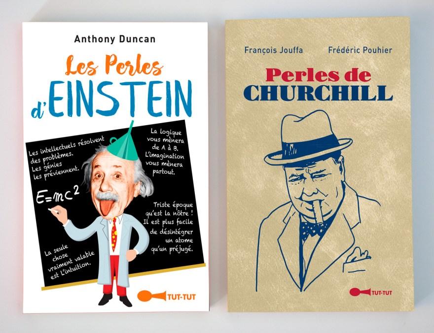 Les Perles d'Einstein et Les Perles de Churchill, Éditions Tut-Tut, janvier 2019