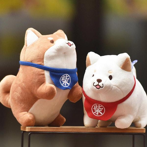 Petites Peluches shiba inu roux et blanc japon