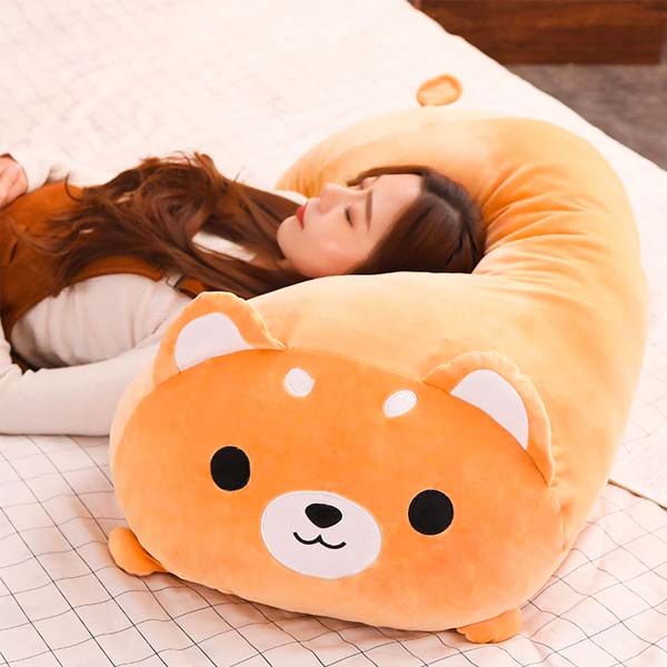 Peluche Shiba Inu en oreiller