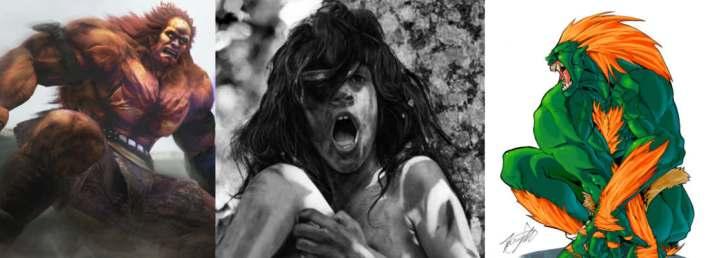 Devil dans Ken, l'Enfant sauvage de Truffaut, et Blanka de Street Fighter, tarzans ratés.