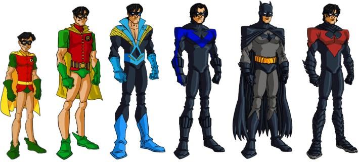 Evolution of Dick Grayson