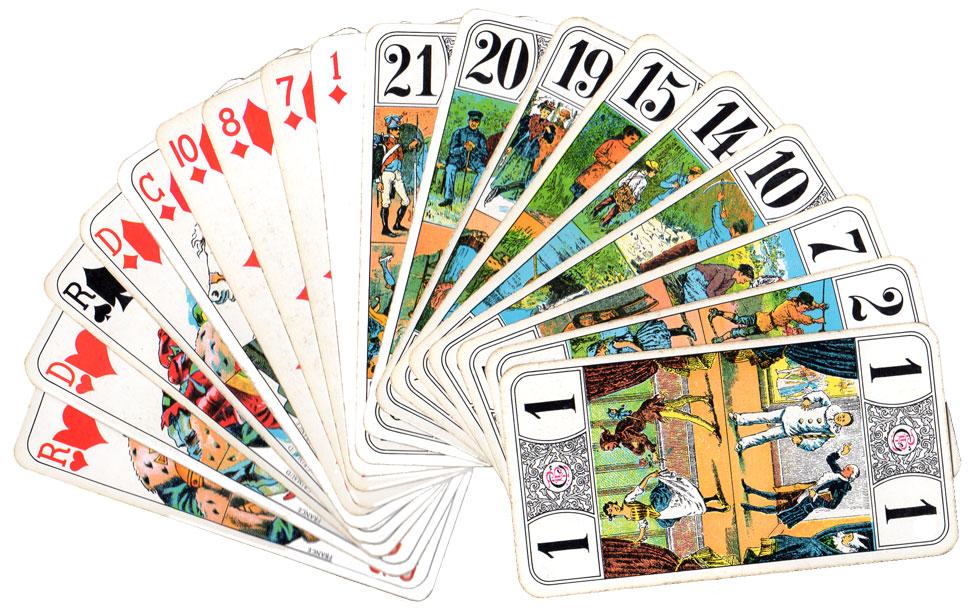 ... on ne peut pas oublier les jeux à jouer avec un jeu de cartes  classiques, de 52 cartes. Par exemple   le tarot quand je trouve des  partenaires !! 91292798400e