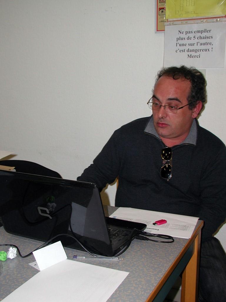 L'arbitre Jérôme Pommier
